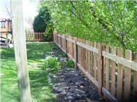 Fence Gallery Photo - 4' WRC Picket Fence on steel posts.jpg