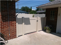 Fence Gallery Photo - 4 ' high PVC fence and gate to match 6 foot high.jpg