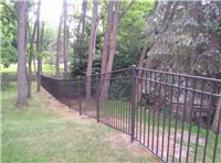 Fence Gallery Photo - Residential Aluminum Installed down a hill.jpg