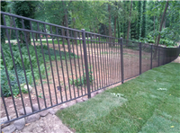 Fence Gallery Photo - Residential Aluminum Installed down a slope.jpg