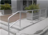 Fence Gallery Photo - Aluminum Pipe Rail at Car Dealership.jpg