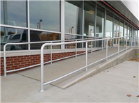 Fence Gallery Photo - Aluminum Pipe Rail at Ramp 3.jpg