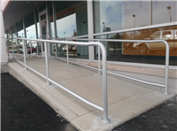 Fence Gallery Photo - Aluminum Pipe Rail at Ramp 4.jpg