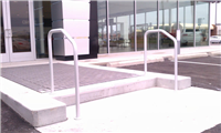 Fence Gallery Photo - Aluminum Pipe Rail at Single Step 2.jpg