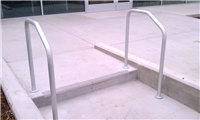Fence Gallery Photo - Aluminum Pipe Rail at Single Step 5.jpg