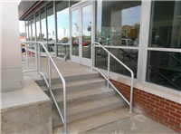 Fence Gallery Photo - Aluminum Pipe Rail at Steps 1.jpg