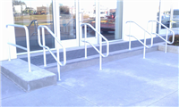 Fence Gallery Photo - aluminum pipe rail at steps.jpg