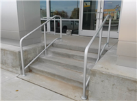 Fence Gallery Photo - Aluminum Stair Rail at Car Dealership 2.jpg