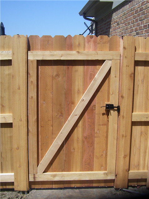 Gates Cedar Gate With Diagonal Bracing