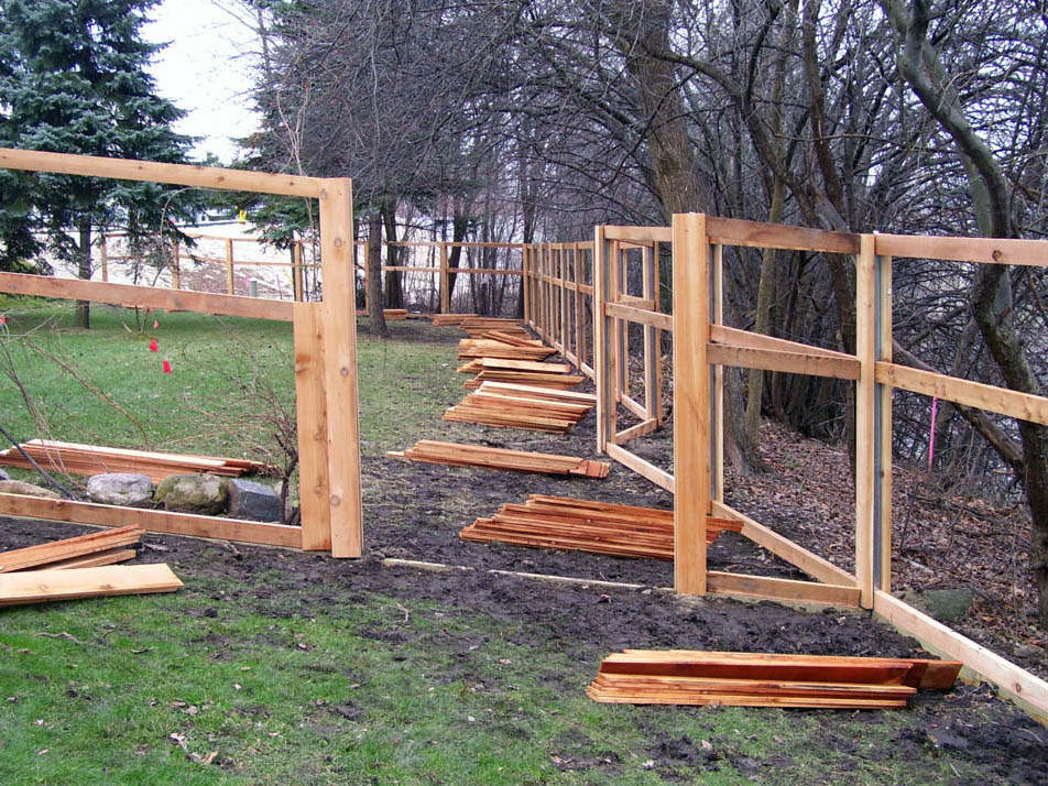 fence construction process