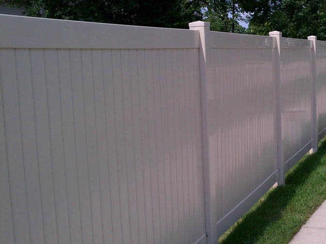 vinyl fence sample