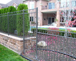 ornamental fences, aluminum fences, steel fences